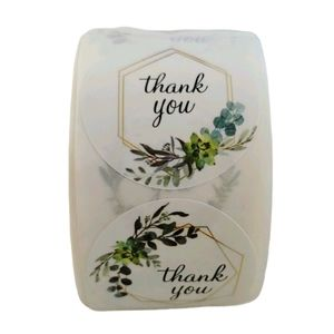 Thank You Stickers Floral 50 count